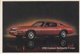 Camaro Berlinetta Coupe,  US postcard, standard size, 1980