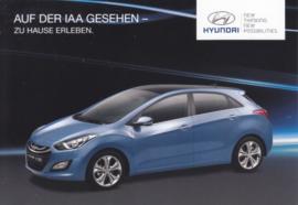 i 30 Hatchback model, DIN A6-size postcard, German postcard, 2012