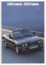320i/325i Cabrio brochure, 24 pages, A4-size, 2/1987, German language