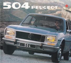 504 Sedan & Break brochure, 24 pages, square size, 1981, Dutch language