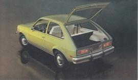 Chevette hatchback Coupe,  US postcard, standard size, 1977
