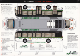 AC Transit Hydrogen Fuel Cell Hybrid-Electric bus leaflet, 2 pages, A4-size, about 2015, English