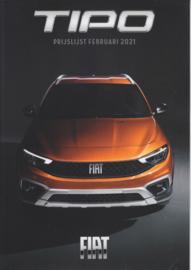 Tipo pricelist brochure, 12 pages, 02/2021, Dutch language