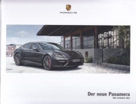 Panamera new model intro brochure, 24 pages, A4-size, 06/2016, German