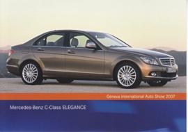 Mercedes-Benz C-Class Elegance, A6-size postcard, Geneva 2007