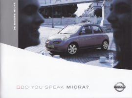 Micra brochure, 34 pages, 01/2003, Dutch language