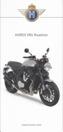 Horex VR6 Roadster brochure, 6 small pages, 2014, German language