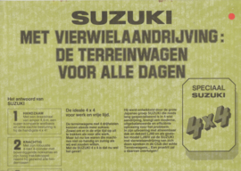 LJ 80/80V 4x4  newspapertype brochure, 8 pages, about 1980, Dutch language, Belgium