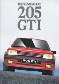 205 GTi brochure, 16 pages, A4-size, 1988, Dutch language
