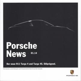 News 01/2014 with 911 Targa 4/4S, 62 pages, 04/2014, German language