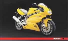 Ducati 1000s, continental size postcard, English language