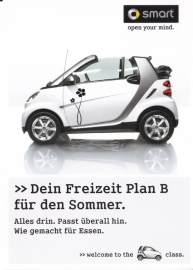Fortwo Cabrio postcard, DIN A6-size, Publicity freecard, German language