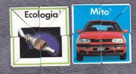 Volkswagen Golf 3, plastic cubic puzzle, 1992, Italian