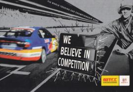 Leon WTCC postcard, DIN A6 size, English language, 2005