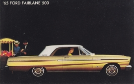 Fairlane 500, US postcard, standard size, 1965