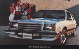 Skylark Sport Coupe, US postcard, standard size, 1981