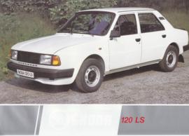 120 LS Sedan leaflet, 2 pages, German language, about 1985