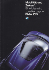 Z13 Concept car brochure, 18 pages, A4-size, 2/1993, German language