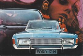 17M Sedan, DIN A6-size postcard, empty back side, approx. 1969