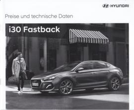 i30 Fastback pricelist brochure, 12 pages, 02/2018, German language