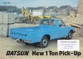 1 Ton Pick-Up leaflet, 2 pages, UK, English language, 1980