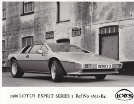 Lotus Esprit Series 3 - factory photo - 1986 - Ref No 5631-B4 - UK market