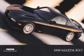 RX-7 Sports Car, 1994, US postcard, A5-size