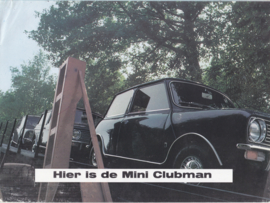 Clubman Saloon & Estate brochure, 8 pages, Dutch language, 1970