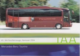 Mercedes-Benz Tourino Autobus, A6-size postcard, IAA Hannover 2004