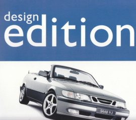 9-3 Cabriolet Design edition leaflet, 2 pages, 2001, Dutch language, # 640300
