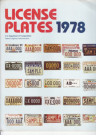 US & Canadian License Plates brochure, 6 pages, 1978, English language
