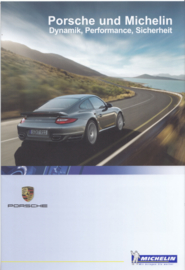 Porsche & Michelin tyres brochure, 8 pages, 07/2010, German language