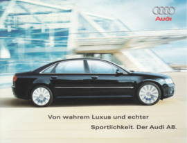 A8 Sedan postcard, slightly bigger than A6-size, German language, about 2003