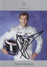 Patrick Huisman - DTM 2001 - real auto gram postcard, German