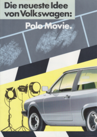 Polo Movie brochure, 4 pages,  A4-size, German language, 10/1986