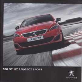 308 GTI brochure, 32 pages, Dutch language, 09/2015