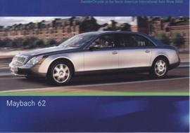 Maybach 62, A6-size postcard, NAIAS 2005