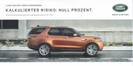 Discovery insurance brochure, 6 smaller pages, 2017, German language