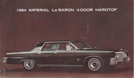 Le Baron 4-door Hardtop,  US postcard, standard size, 1964