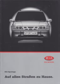 Sportage brochure, 8 pages + 6 page price list, 2000, German language