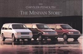 Minivan range, US foldover postcard, continental size, 1993