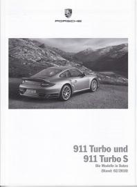 911 Turbo & Turbo S pricelist, 98 pages, 02/2010, German