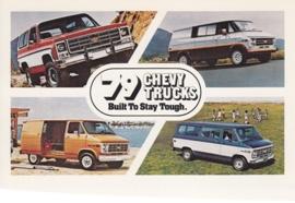 Chevy Trucks, Blazer & Vans,  US postcard, standard size, 1979