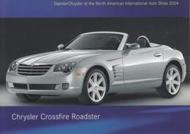 Chrysler Crossfire Roadster, A6-size postcard, NAIAS 2004