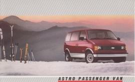 Astro Passenger Van,  US postcard, large size, 19 x 11,75 cm, 1988