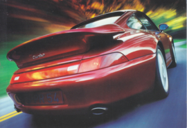 Genuine parts - 911 Turbo rear spoiler postcard,  DIN A6-size, issued mid 1990s