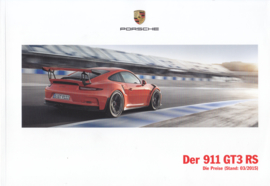 911 GT3 RS pricelist brochure, 68 pages, 03/2015, German