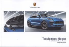 Macan Tequipment pricelist brochure, 60 pages, 06/2016, German