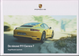 911 Carrera T brochure, 56 pages, 10/2017, hard covers, Dutch language
