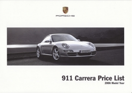 911 Carrera pricelist, 6 pages, 08/2005, LGB.200.103.28, UK, English